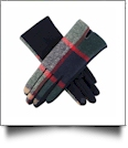 Designer-Look Touchscreen Gloves - MULTI PLAID