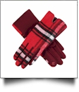 Designer-Look Touchscreen Gloves - RED PLAID - CLOSEOUT