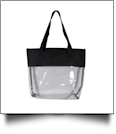 Deluxe Clear Tote Bag - BLACK