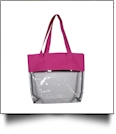 Deluxe Clear Tote Bag - HOT PINK