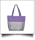 Deluxe Clear Tote Bag - LAVENDER