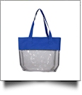 Deluxe Clear Tote Bag - BLUE