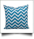 Throw Pillow Cover in Chevron Print - TURQUOISE - CLOSEOUT