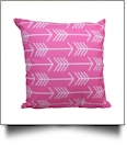 Throw Pillow Cover in Arrow Print - PINK - CLOSEOUT