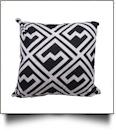 Throw Pillow Cover in Geometric Fashion Print - BLACK - CLOSEOUT