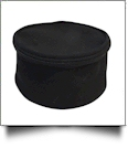The Coral Palms® Canvas Round Jewelry Case Embroidery Blanks - BLACK