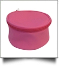 The Coral Palms® Canvas Round Jewelry Case Embroidery Blanks - PINK