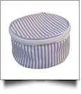Seersucker Round Jewelry Case Embroidery Blanks - PURPLE - IRREGULAR
