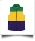 The Coral Palms® Ladies Mardi Gras Fleece Vest - CLOSEOUT