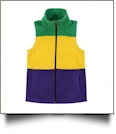 The Coral Palms® Kids Mardi Gras Fleece Vest  - CLOSEOUT