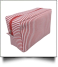 The Coral Palms® Simply Seersucker Cosmetic Bag - RED