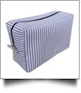 The Coral Palms™ Simply Seersucker Cosmetic Bag - BLUE
