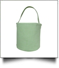 Classic Gingham Easter Bucket Tote - GREEN