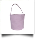 Classic Gingham Easter Bucket Tote - PINK