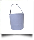 Classic Gingham Easter Bucket Tote - LIGHT BLUE