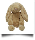 """Medium 16"""" Long-Eared Plush Easter Bunny - TAN - CLOSEOUT"""