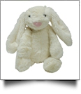 "Small 10"" Long-Eared Plush Easter Bunny - IVORY - CLOSEOUT"