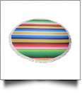 "The Coral Palms® Premium Weight 60"" Round Fringed Beach Towel - Serape Fiesta Collection - CLOSEOUT"