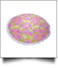 "The Coral Palms® Premium Weight 60"" Round Fringed Beach Towel - Stargaze Soleil Collection - CLOSEOUT"