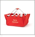 Foldable Market Tote Embroidery Blanks - RED