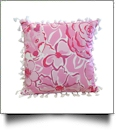 "The Coral Palms® 16"" Tassel Premium Canvas Throw Pillow Cover - Foxy Floral Collection"