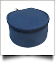 The Coral Palms® Canvas Round Jewelry Case Embroidery Blanks - NAVY