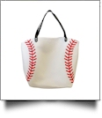 "The ""Take Me Out To The Ball Game"" Canvas Baseball Tote"