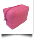 The Coral Palms® Canvas Cosmetic Bag - PINK