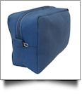 The Coral Palms® Canvas Cosmetic Bag - NAVY - CLOSEOUT