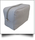 The Coral Palms® Canvas Cosmetic Bag - GRAY