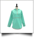 The Coral Palms® Tunic-Style UltraLite Pullover Packable Rain Jacket - MINT