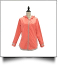 The Coral Palms® Tunic-Style UltraLite Full-Zip Rain Jacket - CORAL