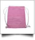 The Coral Palms® Beach and Pool Mesh Drawstring Pack - PINK - CLOSEOUT