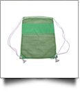 The Coral Palms® Beach and Pool Mesh Drawstring Pack - LIME - CLOSEOUT