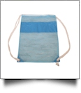 The Coral Palms® Beach and Pool Mesh Drawstring Pack - AQUA - CLOSEOUT