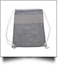 The Coral Palms® Beach and Pool Mesh Drawstring Pack - GRAY - CLOSEOUT