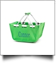 Mini Foldable Market Tote Embroidery Blanks - GREEN