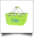 Mini Foldable Market Tote Embroidery Blanks - LIME GREEN