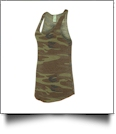 Alternative Ladies' Printed Meegs Eco-Jersey Racerback Tank Top Embroidery Blanks - CAMO/ECO TRUE MILITARY