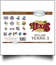 Texas 3 Mylar Embroidery Designs by Purely Gates Embroidery