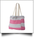 MV Sport Pro-Weave Beachcomber Bag Embroidery Blanks - HEATHER/PINK