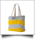 MV Sport Pro-Weave Beachcomber Bag Embroidery Blanks - HEATHER/YELLOW