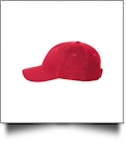 Youth Bio-Washed Unstructured Chino Twill Cap - RED