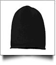 Sportsman Oversize Beanie Embroidery Blanks - BLACK - IRREGULAR