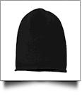 Sportsman Oversize Beanie Embroidery Blanks - BLACK - IRREGULAR