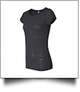 Bella + Canvas Ladies' Burnout T-Shirt Embroidery Blanks - BLACK