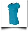Bella + Canvas Ladies' Burnout T-Shirt Embroidery Blanks - AQUA