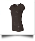 Bella + Canvas Ladies' Burnout T-Shirt Embroidery Blanks - CHOCOLATE