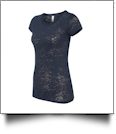 Bella + Canvas Ladies' Burnout T-Shirt Embroidery Blanks - NAVY