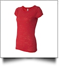 Bella + Canvas Ladies' Burnout T-Shirt Embroidery Blanks - RED